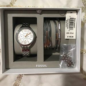 FOSSIL BQ3150 WOMEN'S WATCH AND BRACELET